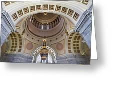 Washington State Capitol Building Rotunda Greeting Card