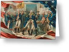 Washington Taking Leave Of His Officers Greeting Card