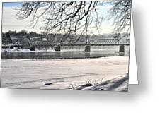 Washingtons Crossing Winter Greeting Card