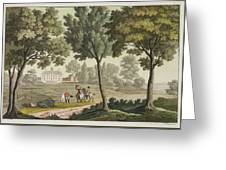 Washingtons House At Mount Vernon Greeting Card