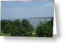 Washington's View From Mt. Vernon Greeting Card