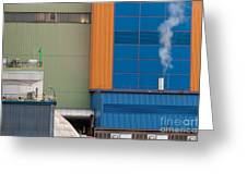 Waste-to-energy Plant Detail Oberhausen Germany Greeting Card
