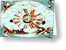 Wasting Time Greeting Card