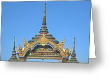 Wat Amarintaram Temple Gate Dthb1524 Greeting Card