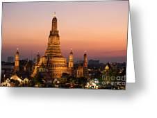 Wat Arun At Sunset - Bangkok Greeting Card