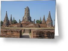 Wat Chaiwatthanaram From The East Dtha0187 Greeting Card