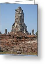 Wat Chaiwatthanaram Ubosot Platform And Buddha Images Dtha0189 Greeting Card