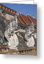 Wat Chedi Luang Phra Chedi Luang Five-headed Naga Dthcm0052 Greeting Card