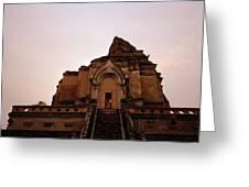 Wat Chedi Luang Sunset Greeting Card