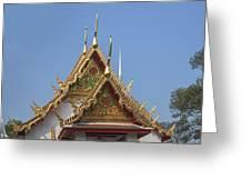 Wat Chumphon Nikayaram Phra Ubosot Gables Dtha0125 Greeting Card