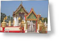 Wat Kampaeng Phra Ubosot And Gate Dtha0142 Greeting Card
