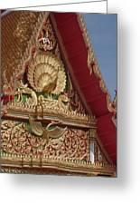Wat Luang Pu Supa Ubosot Gable Dthp330 Greeting Card