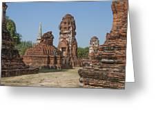 Wat Mahathat Prangs And Chedi Dtha0231 Greeting Card