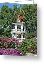 Wat Mahawanaram Bell And Drum Tower Dthu661 Greeting Card