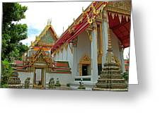 Wat Po In Bangkok-thailand Greeting Card
