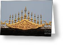 Wat Roof Detail Greeting Card