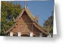 Wat Sri Don Chai Phra Ubosot Gable Dthcm0095 Greeting Card