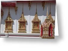 Wat Suwan Khiri Khet Ubosot Windows Dthp273 Greeting Card