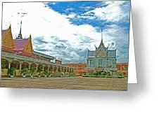 Wat Tha Sung Temple In Uthaithani-thailand Greeting Card