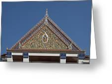 Wat Thewasunthon Preaching Hall Gable Dthb1423 Greeting Card
