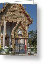 Wat Thewasunthon Ubosot Gate Dthb1420 Greeting Card