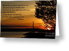 Watch The Sun Set Greeting Card