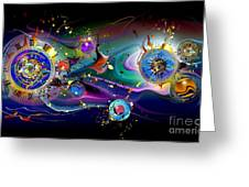 Watches In The Sky Greeting Card