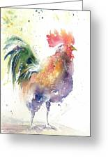 Watchful Rooster Greeting Card