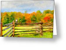 Watching Autumn Greeting Card