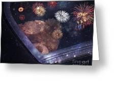 Watching Fireworks Greeting Card