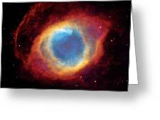 Watching - Helix Nebula Greeting Card by Jennifer Rondinelli Reilly - Fine Art Photography