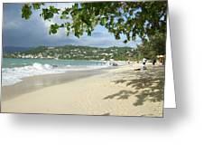 Watching The Beach Greeting Card