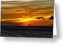 Watching The Sun Set In Barbados  Greeting Card