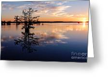 Watching The Sunset At Ba Steinhagen Lake Martin Dies Jr. State Park - Jasper East Texas Greeting Card