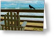 Watching The Waves Greeting Card by Julie Dant