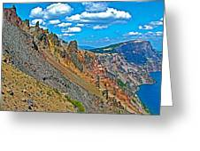 Watchman Overlook In Crater Lake National Park-oregon Greeting Card