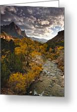 Watchman Sunset Greeting Card by Joseph Rossbach