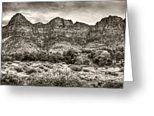 Watchman Trail In Sepia - Zion Greeting Card