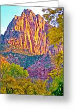 Watchman's Peak In Zion National Park-utah Greeting Card
