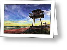Watchtower On The Beach Greeting Card