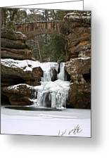 Water And Ice Flow Greeting Card