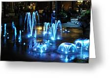 Water And Ligths Greeting Card