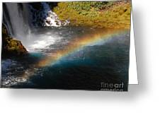Water And Rainbow Greeting Card
