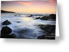 Water And The Sunset Greeting Card