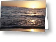 Water At Sunset Greeting Card