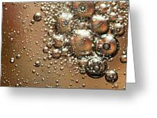 Water Bubbles Abstraction Greeting Card
