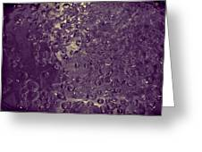 Water Bubbles Purple Greeting Card