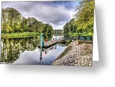 Water Bus Stop Bute Park Cardiff Greeting Card