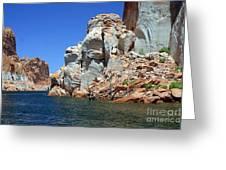 Water Canyon II Greeting Card