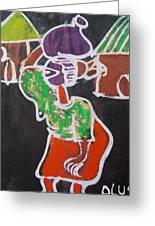 Water Carrier. Greeting Card